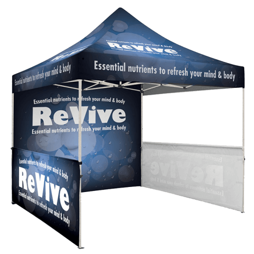 trade tent graphics